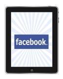 Facebook su Ipad Fotografia Stock