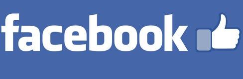 Facebook symbol med lika knappar royaltyfri illustrationer