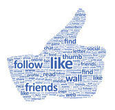 Facebook Thumb Up Sign Stock Image