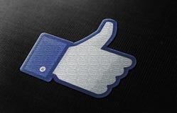Facebook tiene gusto fotografía de archivo