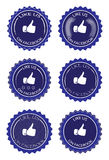 Facebook tiene gusto ilustración del vector