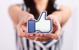 Facebook tiene gusto del botón fotos de archivo libres de regalías