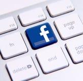 Facebook-toetsenbord Stock Foto