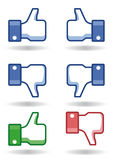 Facebook tum like! /dislike! Royaltyfri Fotografi
