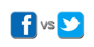 Free Facebook V Twitter Royalty Free Stock Images - 28271799