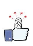 Facebook-veiligheids conceptueel beeld Stock Foto's