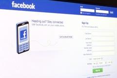 Facebook, vermarktende Bibel Lizenzfreie Stockbilder