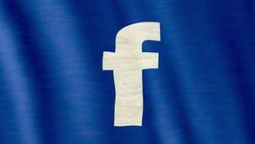 Facebook-vlag stock footage