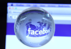 Facebook webpage Stock Photography