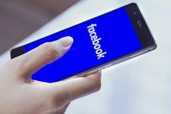 Facebook wiszącej ozdoby zastosowanie Zdjęcia Stock