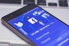 Facebook wiszącej ozdoby zastosowanie Obrazy Royalty Free