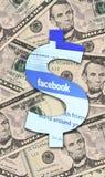 Facebook y dólar de los E.E.U.U. ilustración del vector