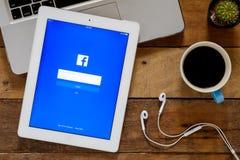 Facebook zastosowanie Fotografia Stock