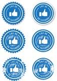 Facebook zoals Zegels Stock Foto's