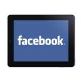 facebookipad Arkivbild