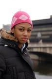 faceing teen stads- för livstidsproblem Arkivbild