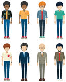 Faceless bachelors Royalty Free Stock Photography