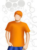 Faceless boy Stock Images