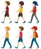 Faceless boys walking Stock Photography