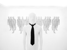 Faceless businessman leader Royalty Free Stock Images