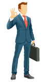 Faceless businessman Stock Images