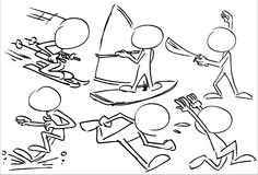 Faceless Characters Playing Sports Stock Images