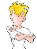 faceless diagram för animepojke royaltyfri illustrationer