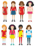 Faceless female kids Royalty Free Stock Photo