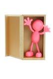 Faceless figurine surprise appearance Stock Images