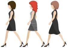 Faceless girls walking Royalty Free Stock Photo