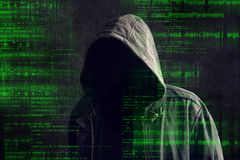 Free Faceless Hooded Anonymous Computer Hacker Royalty Free Stock Image - 46142616