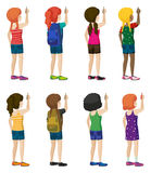 Faceless kids with fashionable attires Stock Photo