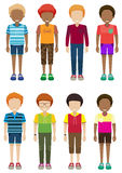 Faceless kids Stock Images