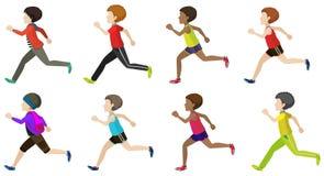 Faceless kids running Royalty Free Stock Image