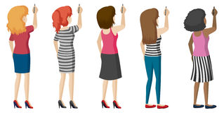 Faceless ladies Stock Photo
