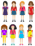 Faceless little girls Stock Photo
