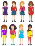 Faceless little girls Stock Photo