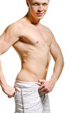 Faceless male torso Stock Images