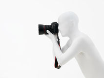 Faceless man with camera Stock Photography
