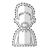 Faceless man cartoon icon image Royalty Free Stock Photos