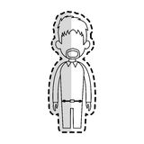 Faceless man cartoon icon image Royalty Free Stock Photography