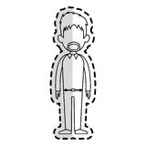 Faceless man cartoon icon image Royalty Free Stock Image