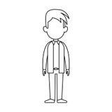 Faceless man cartoon icon image. Faceless man with youthful haircut cartoon icon image  illustration design Royalty Free Stock Images