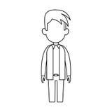 Faceless man cartoon icon image. Faceless man with youthful haircut cartoon icon image  illustration design Royalty Free Stock Photo