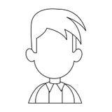 Faceless man cartoon icon image. Faceless man with youthful haircut cartoon icon image  illustration design Stock Photo