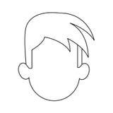 Faceless man cartoon icon image. Faceless man with youthful haircut cartoon icon image  illustration design Stock Photos