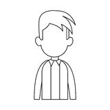 Faceless man cartoon icon image. Faceless man with youthful haircut cartoon icon image  illustration design Royalty Free Stock Photos