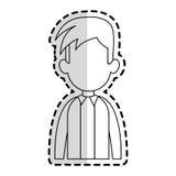 Faceless man cartoon icon image. Faceless man with youthful haircut cartoon icon image  illustration design  sticker Stock Image