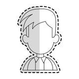 Faceless man cartoon icon image. Faceless man with youthful haircut cartoon icon image  illustration design  sticker Royalty Free Stock Photography