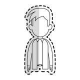 Faceless man cartoon icon image. Faceless man with youthful haircut cartoon icon image  illustration design  sticker Royalty Free Stock Photo